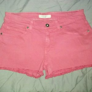 New Rich & Skinny Jeans Shorts 27 Red Cut Offs